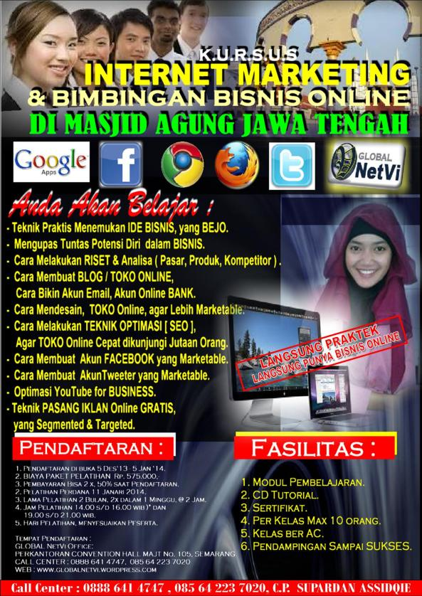 Kursus Internet Marketing Terbaik di Semarang, Privat Internet Marketing, Belajar Toko Online, Belajar WEB di Semarang, Belajar BLOG, Supardan Assidqie, 0888 641 4747
